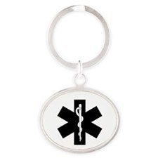 EMS Star Of Life Oval Keychain