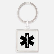 EMS Star Of Life Square Keychain