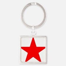 Red star 1 Square Keychain