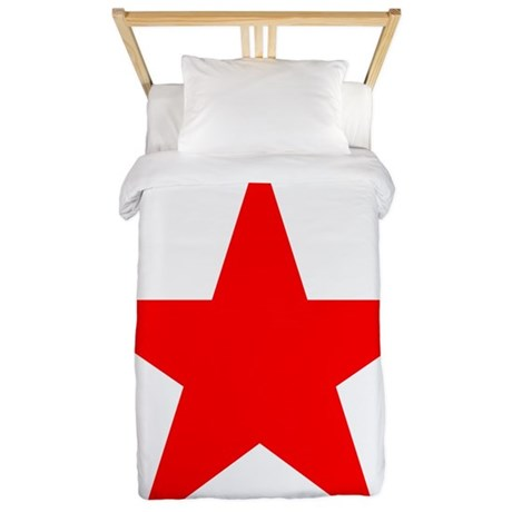 Red star 1 Twin Duvet