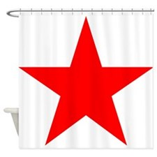 Red star 1 Shower Curtain
