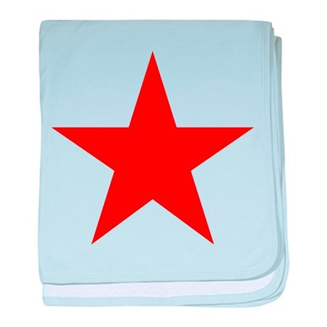 Red star 1 baby blanket