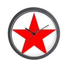 Red star 1 Wall Clock