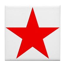 Red star 1 Tile Coaster