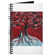 Boston Terrier tree love Journal