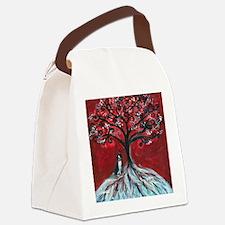 Boston Terrier tree love Canvas Lunch Bag