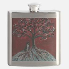 Boston Terrier tree love Flask