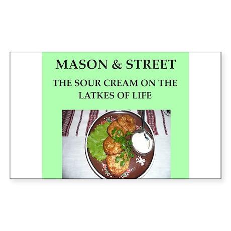 mason and street Sticker (Rectangle)