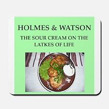 holmes and watson Mousepad