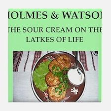holmes and watson Tile Coaster