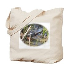 Green Heron Stalking Frogs Tote Bag