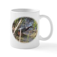 Green Heron Stalking Frogs Mug