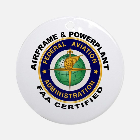 Airframe & Powerplant Ornament (Round)