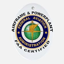Airframe & Powerplant Ornament (Oval)