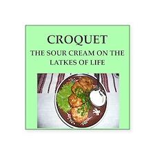 "croquet Square Sticker 3"" x 3"""
