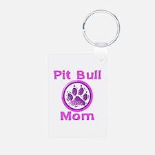 Pit Bull Mom Keychains