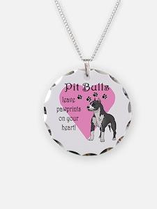 Pit Bulls Pawprints Necklace