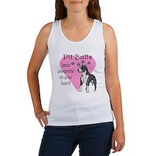 Pit Bulls Pawprints Women's Tank Top