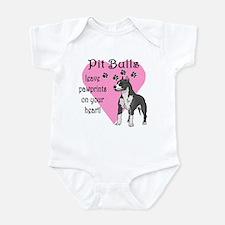 Pit Bulls Pawprints Infant Bodysuit