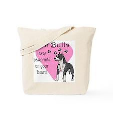 Pit Bulls Pawprints Tote Bag