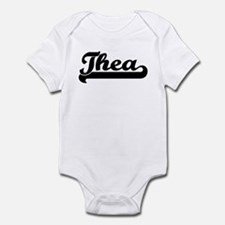 Black jersey: Thea Infant Bodysuit