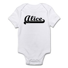 Black jersey: Alice Infant Bodysuit