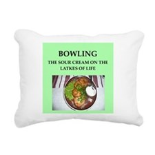 bowling Rectangular Canvas Pillow