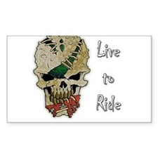 LIVE TO RIDE SKULL Decal