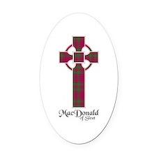 Cross - MacDonald of Sleat Oval Car Magnet