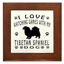 Tibetan Spaniel design Framed Tile