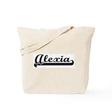 Black jersey: Alexia Tote Bag