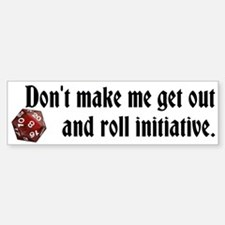 DnD roll initiative bumper sticker