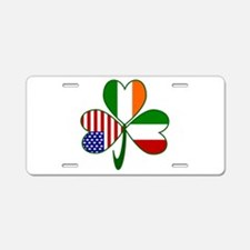 Shamrock of Italy Aluminum License Plate
