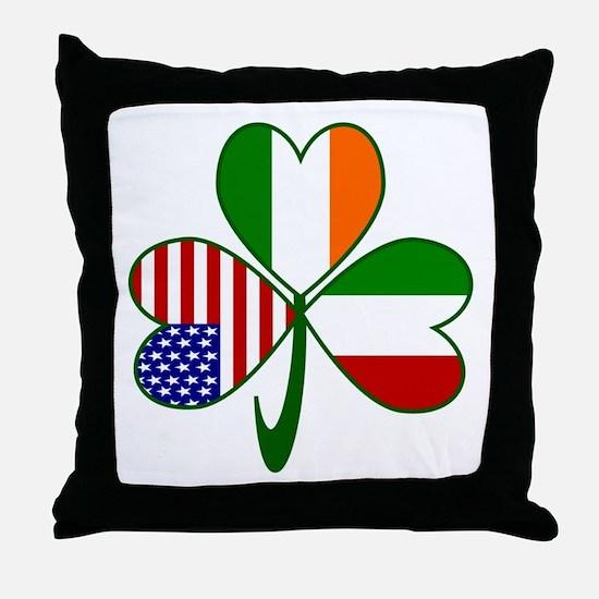 Shamrock of Italy Throw Pillow