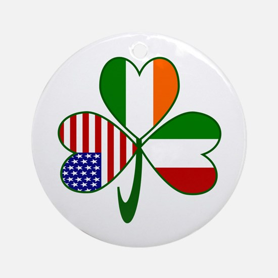 Shamrock of Italy Ornament (Round)