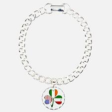 Shamrock of Italy Charm Bracelet, One Charm