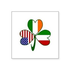 "Shamrock of Italy Square Sticker 3"" x 3"""