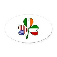 Shamrock of Italy Oval Car Magnet
