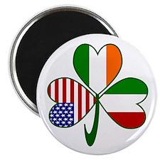 "Shamrock of Italy 2.25"" Magnet (100 pack)"