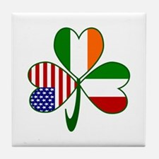 Shamrock of Italy Tile Coaster