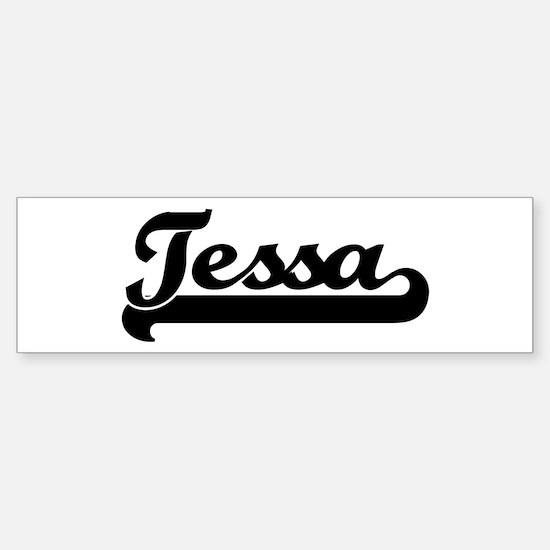 Black jersey: Tessa Bumper Car Car Sticker