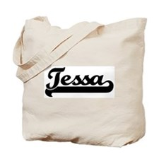 Black jersey: Tessa Tote Bag