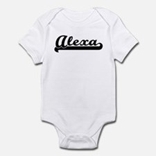 Black jersey: Alexa Infant Bodysuit