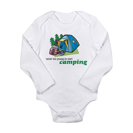 Never Too Young to Start Camping Infant Creeper Bo