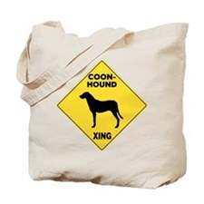 Coonhound Crossing Sign Tote Bag