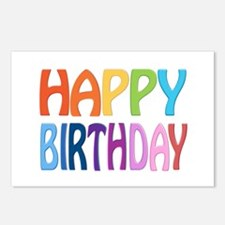 Happy Birthday - Colorful Postcards (package Of 8)