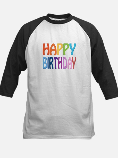 happy birthday - happy Kids Baseball Jersey