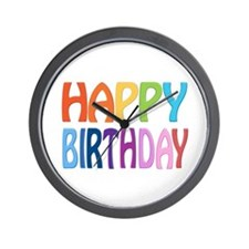 happy birthday - happy Wall Clock