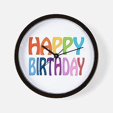 happy birthday - happy Wall Clock