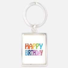 happy birthday - happy Portrait Keychain